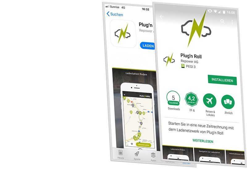 Elektroauto mit App aufladen PLUG'N ROLL